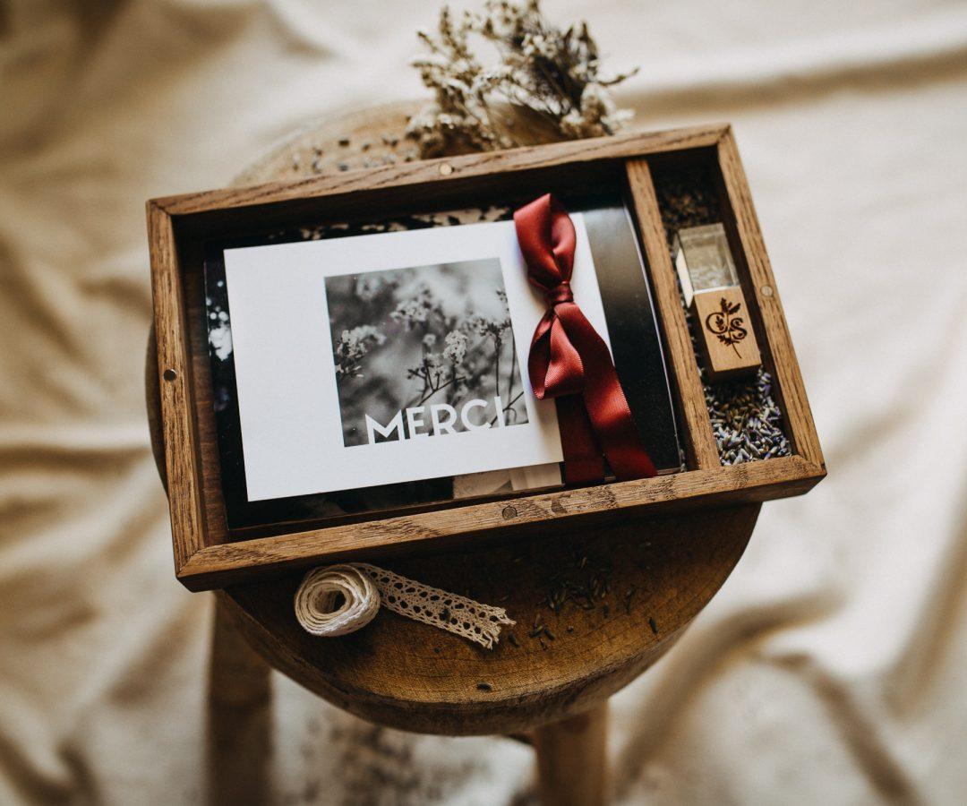 Coffret souvenir photographe mariage Savoie