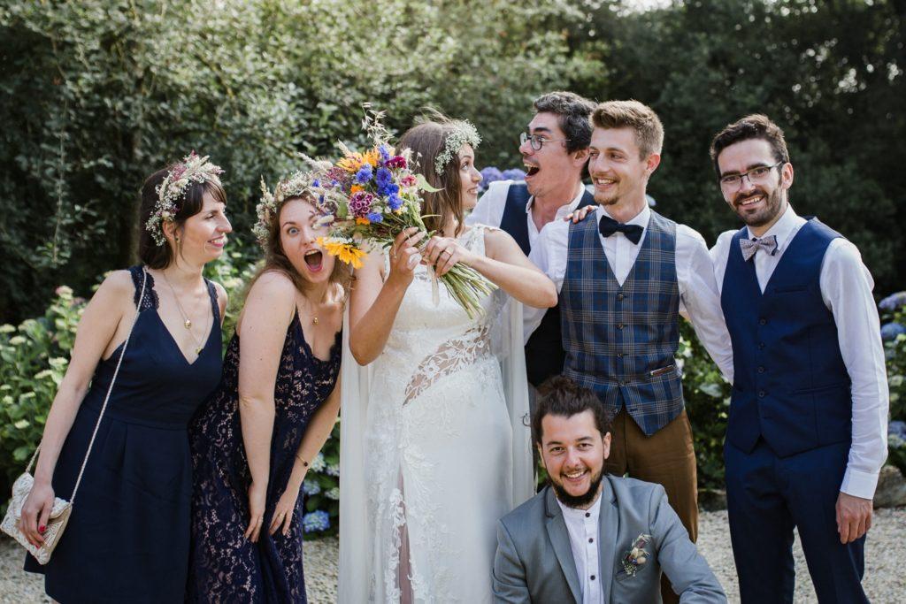 Photo de groupe originale mariage