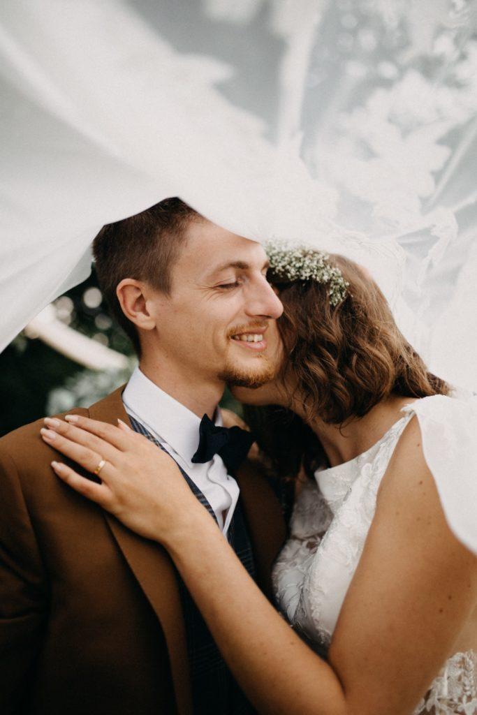 Photo de couple mariage bohème
