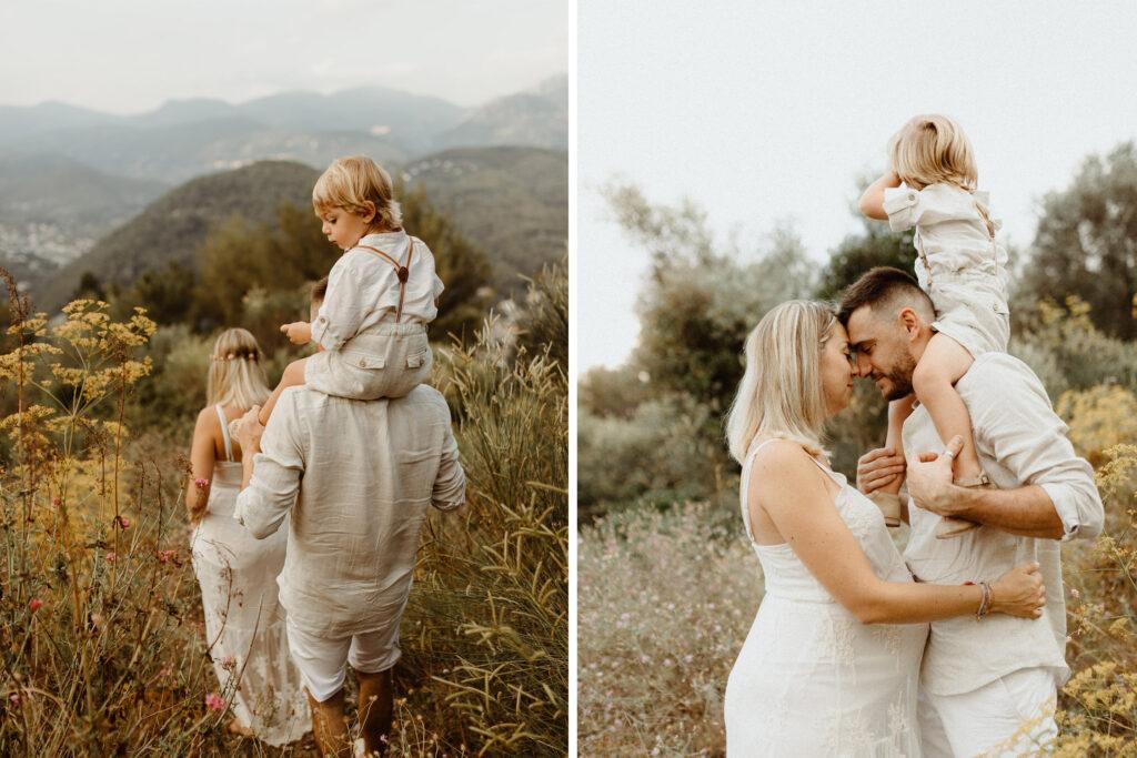 Femme enceinte en famille